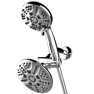 Chrome Shower Head,Combo Shower Set,Dual Shower Heads,Handheld Shower,Shower Head Rainfall