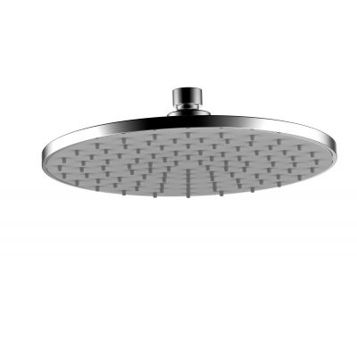 "Whole ABS 8"" Rain Shower Head with ABS Nozzles High Pressure Grey Faceplate"