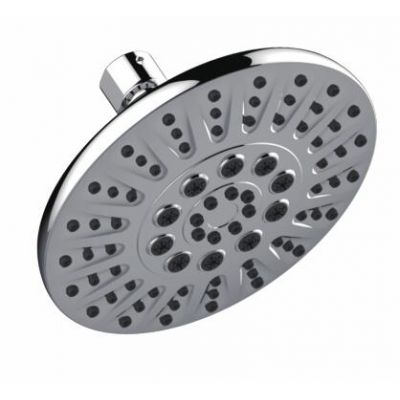 Classic ABS Plastic Shower Head with 5 Functions Polished Chrome