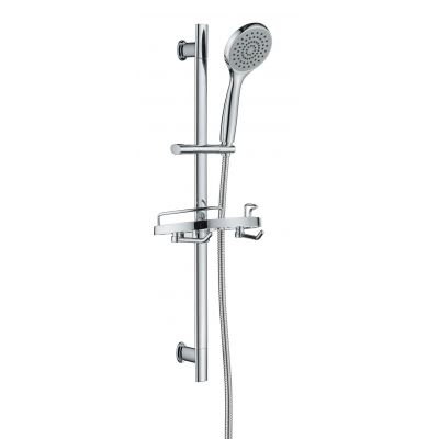 Fashion SUS Shower Slide Rail with Conical Slide Holder | Black Face Hand Shower | 60 inch Shower Hose