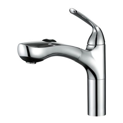 China Manufacturer Pull Out Single Level Copper Faucet